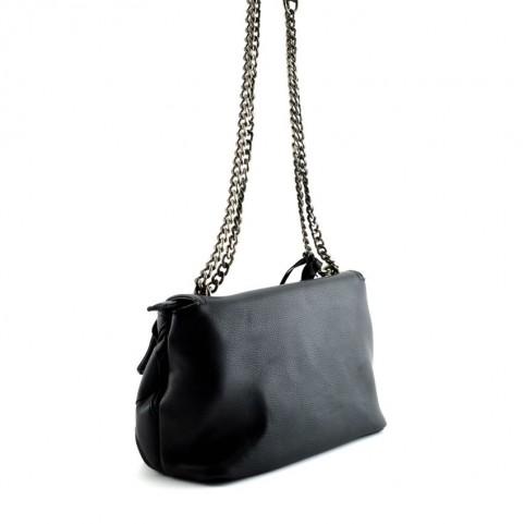 Cult 9371 black shoulder bag with zip