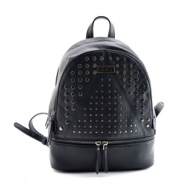 Cult 1122 black backpack with studs