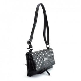 Cult 1123 black shoulder bag with studs