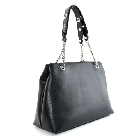 Cult 1128 black shopping bag with studs