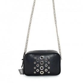 Cult 1130 black shoulder bag with studs