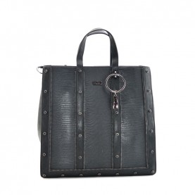Cult 1135 black shopping bag with zip