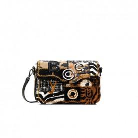 Desigual 20WAXA99 black and brown shoulder bag