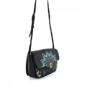 Desigual 20WAXP30 black and blue shoulder bag