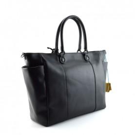 Gabs Carlotta L black leather bag