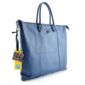 Gabs G3 plus L night blue leather bag