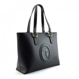 Trussardi jeans 75B00961 Lisbona black shopper bag