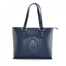 Trussardi jeans 75B00961 Lisbona blue shopper bag