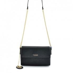 Trussardi jeans 75B00970 Mosca black shoulder bag