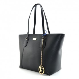 Trussardi jeans 75B00971 Monaco black shopper bag