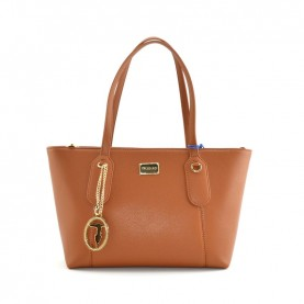 Trussardi jeans 75B00972 Monaco light brown shopper bag