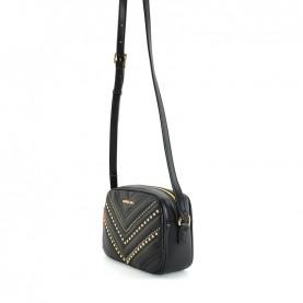 Trussardi jeans 75B00995 Berlino black camera case bag with studs