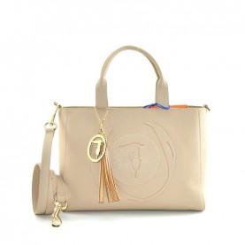 Trussardi jeans 75B01032 Faith taupe medium shopper bag