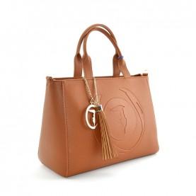 Trussardi jeans 75B01032 Faith light brown medium shopper bag