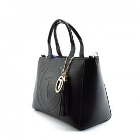 Trussardi jeans 75B01032 Faith black medium shopper bag