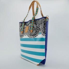 Gabs Gabsille shopping 11 L astratto azzurro