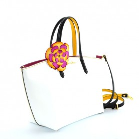 Braccialini B12140 Amelie white leather handle bag
