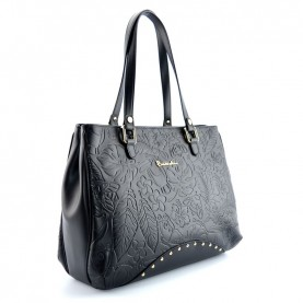 Braccialini B12212 Lola black leather shopper bag