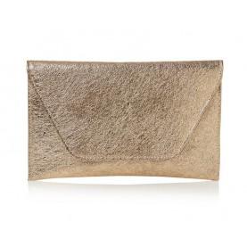 Barachini CC007G peach crack leather bag