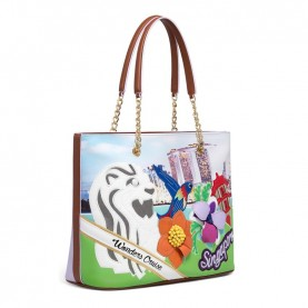 Braccialini B12793 Tua Cartoline shopping bag Singapore