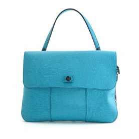 Gabs Azzurra L Black bag leonardo turquoise