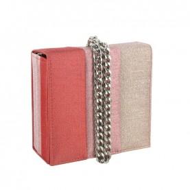 Menbur 84458 pink glitter clutch