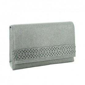 Menbur 84494 silver glitter clutch