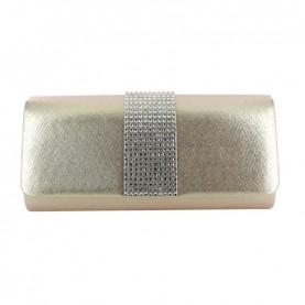 Menbur 84561 platinum clutch with strass