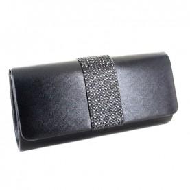 Menbur 84561 black clutch with strass