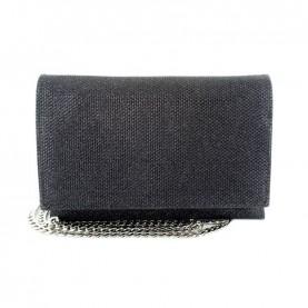 Menbur 84478 black glitter clutch