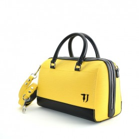 Trussardi jeans 75B00656 T-Easy handle yellow and black bag