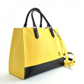 Trussardi jeans 75B00660 T-Easy yellow and black shopping bag