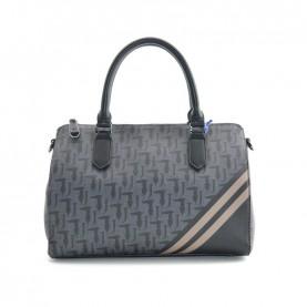 Trussardi Jeans 75B00477 vaniglia logo satchel bag