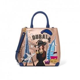Braccialini B13981 Cartoline Metal Dubai bag