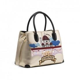 Braccialini B13982 Cartoline Metal Firenze bag