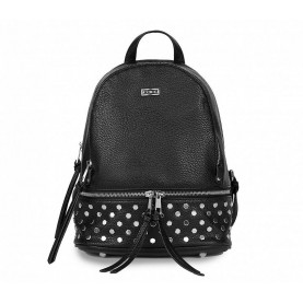 Cult 9864 black backpack with studs