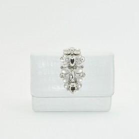 Tiffi P01 white bag with stones