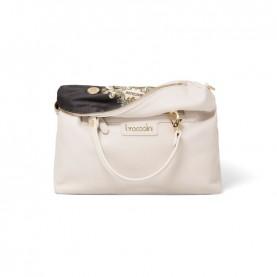 Braccialini B14851 Jennifer beige reversible duffle bag