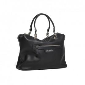 Braccialini B14851 Jennifer black reversible duffle bag