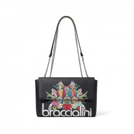 Braccialini B14800 Britney black parrot shoulder bag