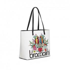 Braccialini B14803 Britney white parrot shopper bag