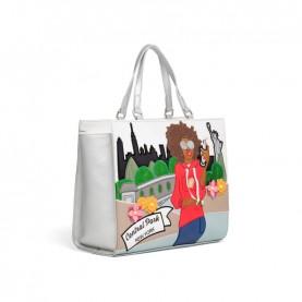 Braccialini B14811 Cartoline bag New York