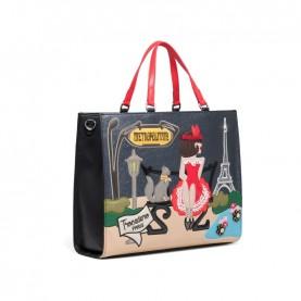 Braccialini B14812 Cartoline bag Paris