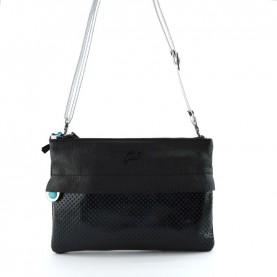 Gabs Beyoce M black diamante + ruga black leather bag