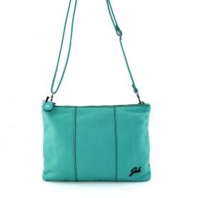 Gabs Beyoce M turquoise soft black leather bag