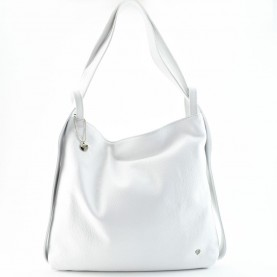 Caleidos 04B-16WH white leather bag backpack