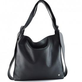 Caleidos 04B-16BK black leather bag backpack