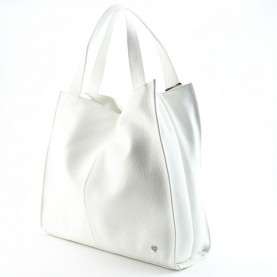 Caleidos 04B-27WH white leather satchel bag