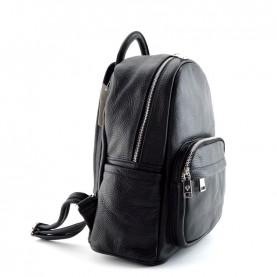 Caleidos 04C-36BK black leather backpack