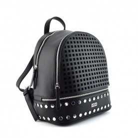 Cult 2593 black perforated backpck with studs